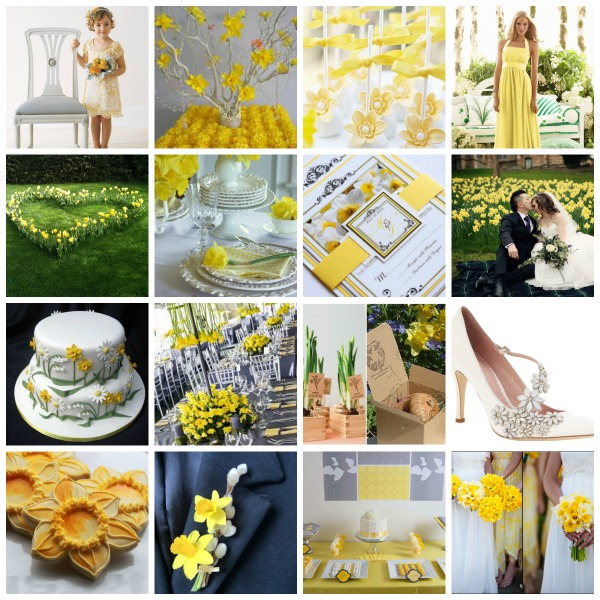 """floral Sunshine""  A Daffodil Inspired Wedding Theme  Moodboard And Styling Ideas"