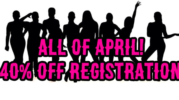 registration special - 40% off