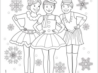 Holiday Dance Celebration Coloring Page
