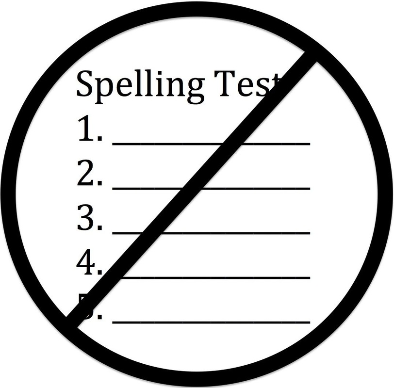 Image result for no spelling test sign