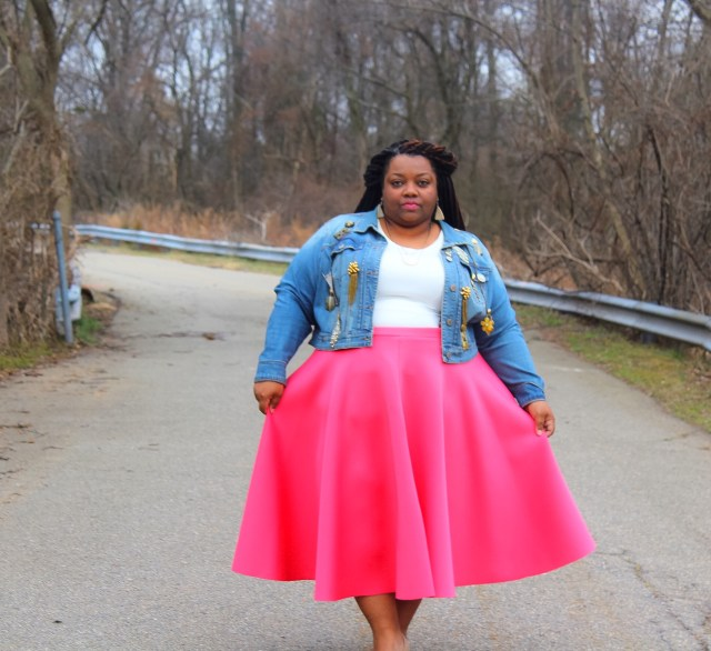 SPRING-SPIRATION - Denim Jacket Circle Skirt