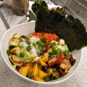 Baked Teriyaki Tofu Sushi Bowl