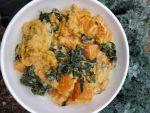 Cheesy Sweet Potato and Kale Casserole