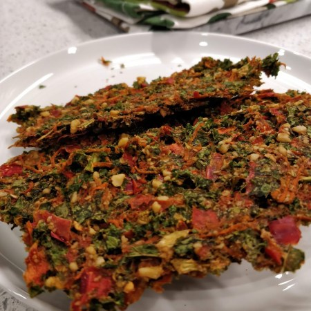 Kale and Veggie Dehydrated Crackers