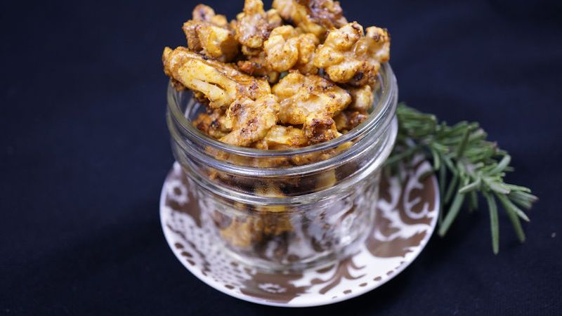 Curried Maple Walnuts