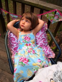 """Dress and Pillow pattern from Sis Boom's """"Girl's World"""" in Circa"""