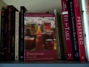 "Image of Pam Corbin's ""Preserves"" book on shelf"