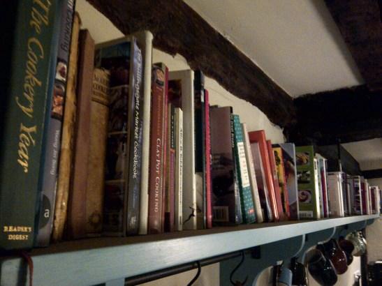 Image of a crowded book shelf