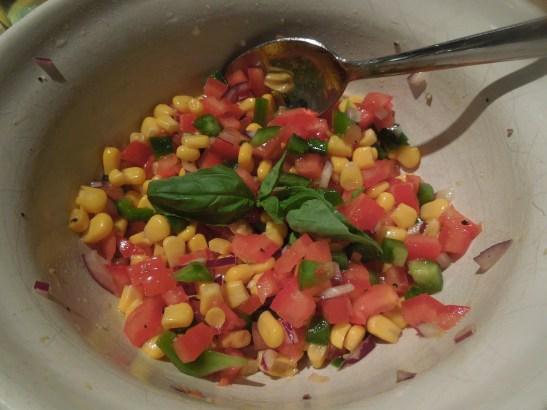 Image of sweetcorn salad