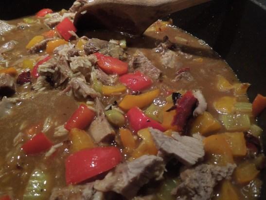 Image of pilaf ingredients cooking