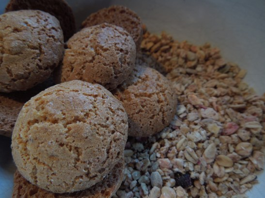 Image of amaretti biscuits and granola