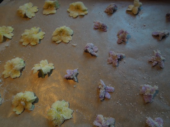 Image of a tray of newly-anointed flowers