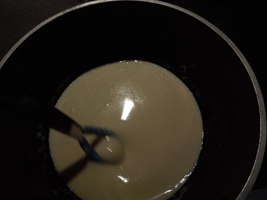 Image of sauce being whisked