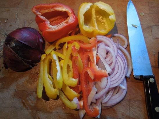 Image of veg for the fajitas