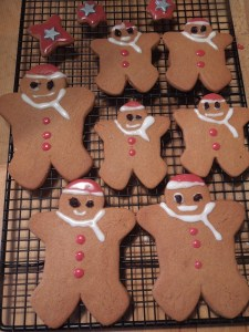 Image of gingerbread santas