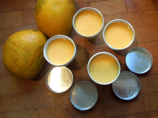 Image of kulfi poured into moulds