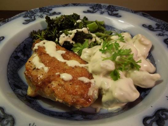 Image of Chicken with Potato Gnocchi and Parmesan Cream