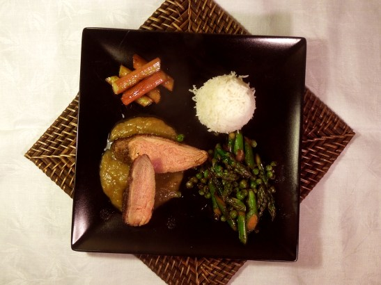 Image of spiced duck with rhubarb