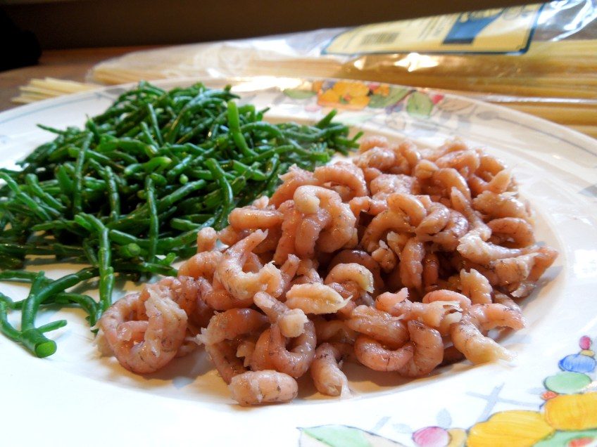 Image of samphire and shrimps