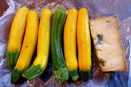 Image of courgettes and Stichelton cheese