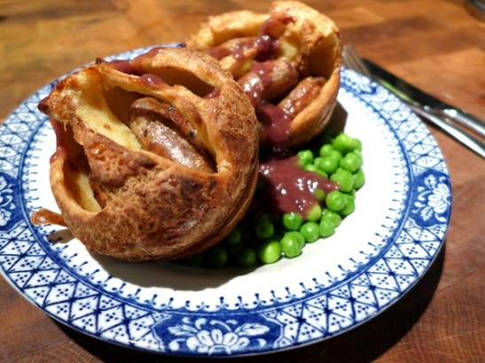 Image of toad in the hole, served
