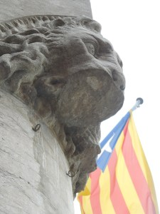 Image of Catalan flag and lion