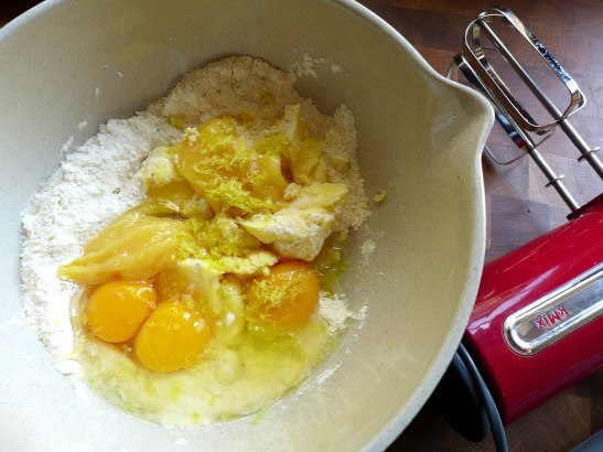 Image of cake ingredients in a bowl