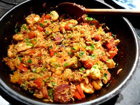 Image of a pan of Spanish-style rice