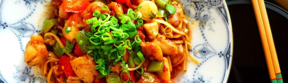 Image of lemon chilli chicken noodles