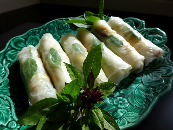 Image of crab and avocado summer rolls
