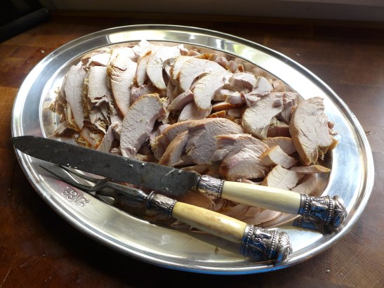 Image of a platter of sliced turkey
