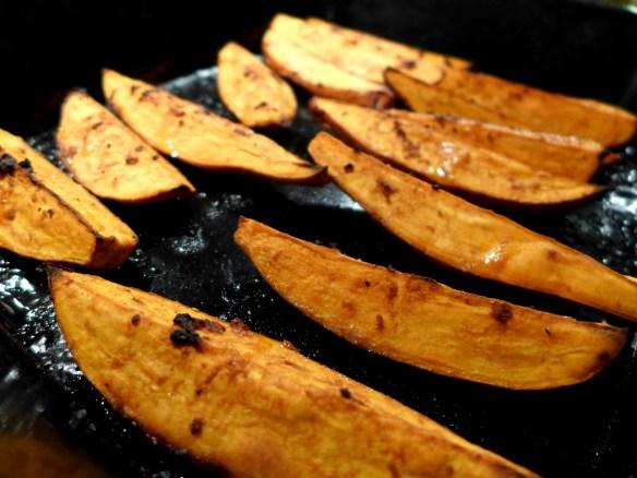 Images of roasted sweet potato