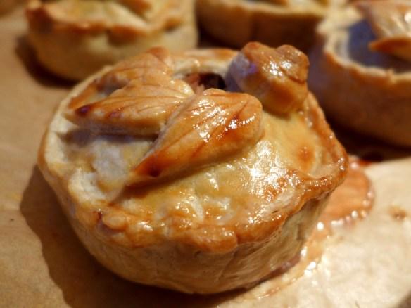 Image of turkey, ham and cranberry raised pie