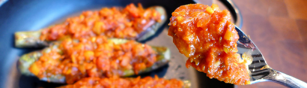 Image of Indian-inspired aubergines