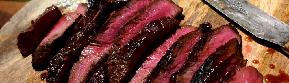 Image of sliced marinated steak