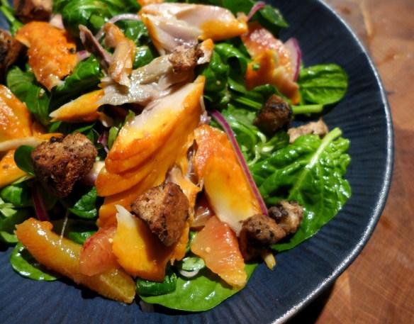 Image of smoked mackerel and blood orange salad