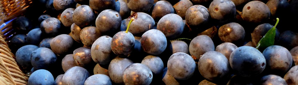 Image of damsons in a basket
