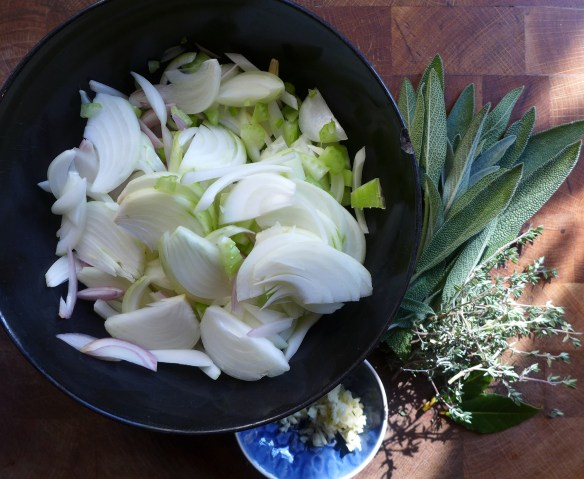 Image of pie veg and herbs