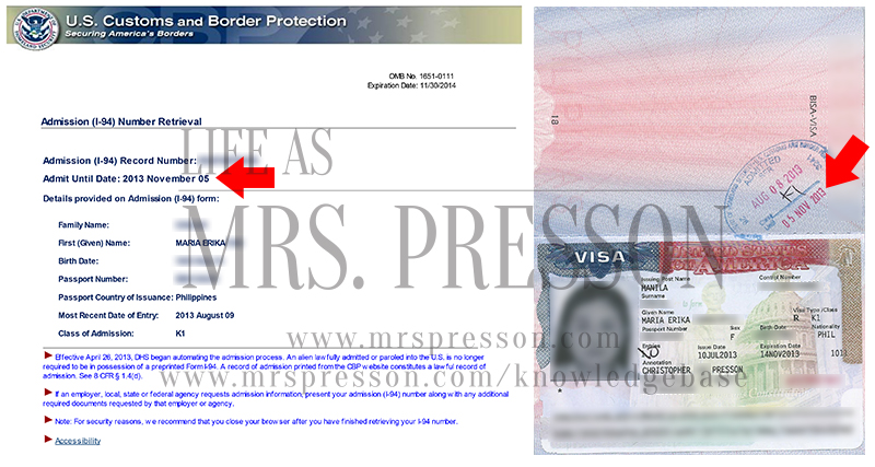 Any difference between the K1 Visa expiry and I-94 expiration date ...
