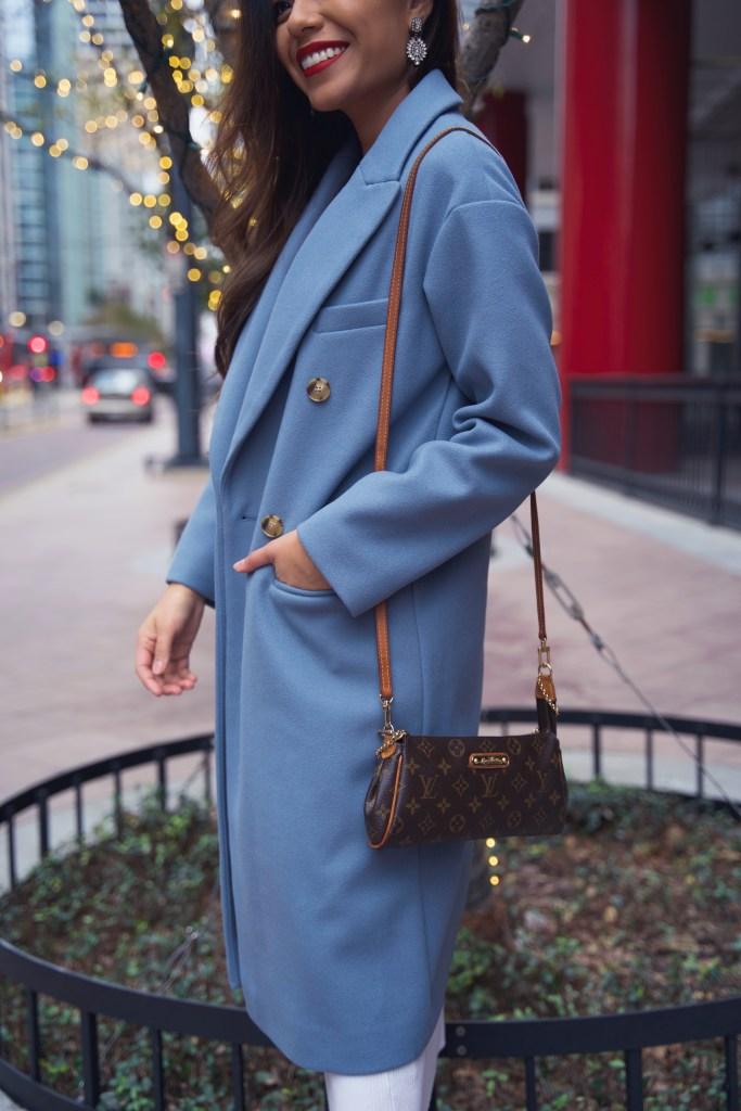 topshop blue coat