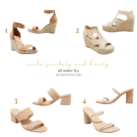 Fresh Friday Finds: Nude Sandals & Heels