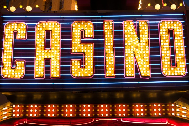 Casino Sign in Lights