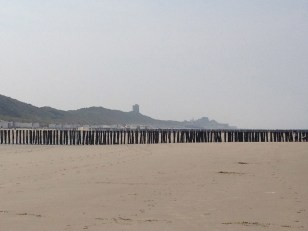 View toward Domburg from the beach cabin.