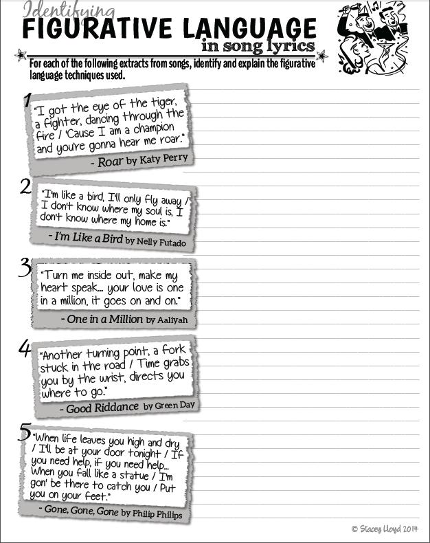 4th Grade » 4th Grade Figurative Language Worksheets