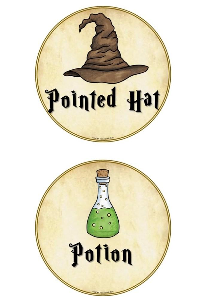 Décoration Harry Potter Table Names