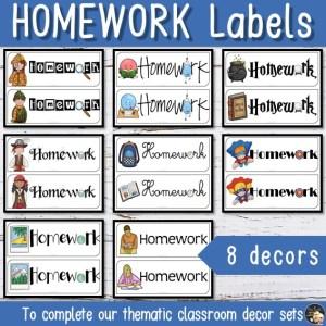 Décoration Etiquette Homework