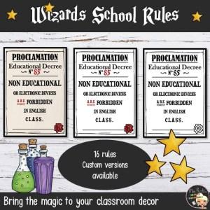 Décoration Harry Potter GB Règles