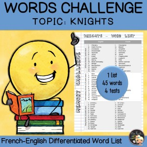 Vocabulary Word List Knights