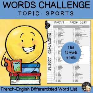 Vocabulary Word List Sports