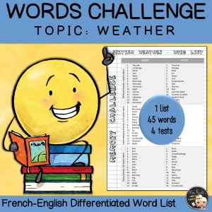 Vocabulary Word List Weather
